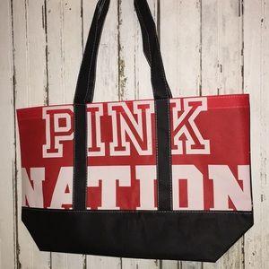 Vs Pink Nation shopper tote bag red white & blue